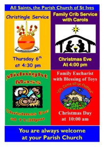 Christmas services 2012